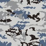 Fashionable camouflage pattern, seamless vector. Millatry print. the texture of the clothes, the disguise of a hunter. royalty free illustration