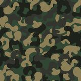 Fashionable camouflage pattern, vector illustration. Millatry print. Can be used for textile and wallpaper Stock Photos