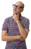 Fashionable casual man thinking and looking up Royalty Free Stock Photography