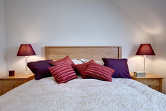 Fashionable chic modern bed Stock Images