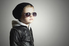 Fashionable child boy in sunglasses Stock Image
