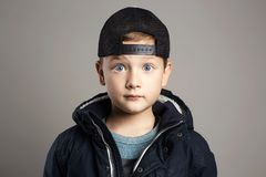 Winter style child.fashion kids Stock Images