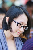 Fashionable Chinese girl with a pale skin, Beijing, China stock photos