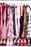 Fashionable clothes and shoes Royalty Free Stock Image