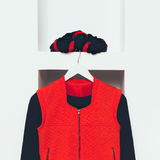 Fashionable Clothing. Black and red colors in style. Royalty Free Stock Image
