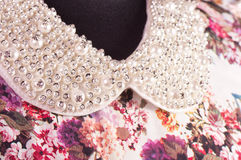 Fashionable collar on dress Royalty Free Stock Photography