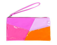 Fashionable colored clutch Royalty Free Stock Photography