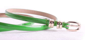 Fashionable colorful belts Stock Photo