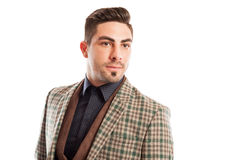 Fashionable and confident sales man Stock Images