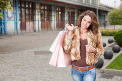 Fashionable cool young shopper. Stock Photography