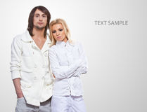 Fashionable couple Royalty Free Stock Photo