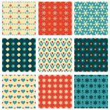 Fashionable and cute patterns Stock Images