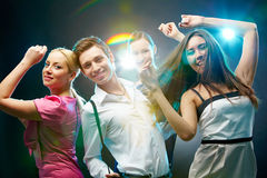 Fashionable dancers Stock Image