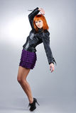 Fashionable dancing girl Stock Photography