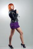 Fashionable dancing girl Royalty Free Stock Photos