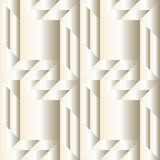 Fashionable decorative seamless pattern with different geometrical shapes of white pearl gradient Stock Image