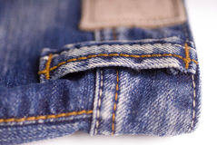 Fashionable denim jeans Stock Image