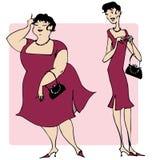 Fashionable dress. Two ladies wearing the same fashionable dress Stock Photo