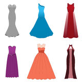 Fashionable dresses for graduation ball, party, soiree, cocktail Stock Photos