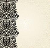 Fashionable ecru and black invitation design. Background Royalty Free Stock Photos