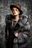 Fashionable elegant lady stock photos