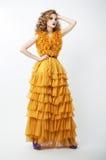 Fashionable emotional blonde girl posing stock images