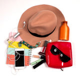 Fashionable female accessories for modern woman. Stock Photography