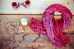Fashionable female accessories Royalty Free Stock Image