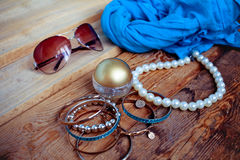 Fashionable female accessories Royalty Free Stock Photos