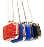 Fashionable female handbags Stock Photo