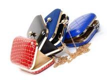 Fashionable female open handbags Stock Photo