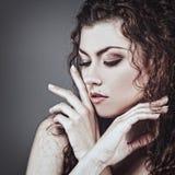 Fashionable female portrait. Royalty Free Stock Photography
