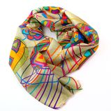 Fashionable female scarf isolated on white Stock Images