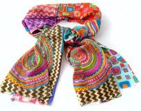 Fashionable female scarf isolated on white Stock Photos