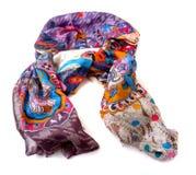 Fashionable female scarf isolated on white Stock Photo