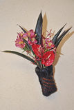 Fashionable flower basket Royalty Free Stock Images