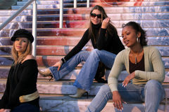Fashionable Friends royalty free stock images