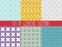 Fashionable geometric seamless pattern set Stock Photo