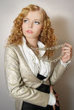 The fashionable  girl Stock Photography