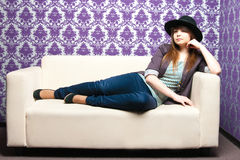 The fashionable girl Stock Photo