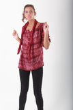 Fashionable girl Stock Images