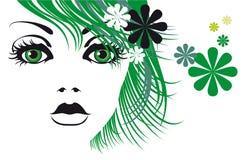 Fashionable girl. Artistic vector image fashionable girl Stock Image
