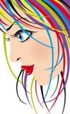 Fashionable girl. Artistic vector image fashionable girl Stock Photo