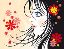 Fashionable girl. Artistic vector image fashionable girl Royalty Free Stock Photos