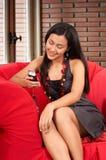 Fashionable girl Stock Photos