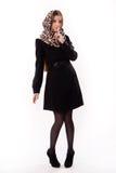 Fashionable girl in an autumn coat Stock Photo