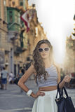 Fashionable girl Stock Images