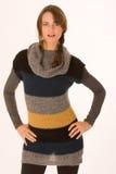 Fashionable girl with Elan Stock Photos