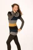 Fashionable girl with Elan Royalty Free Stock Image