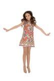Fashionable girl jumping Stock Photo